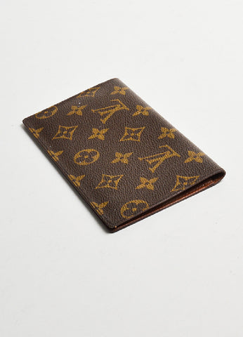 Brown Louis Vuitton Monogram Canvas Checkbook Wallet Sideview