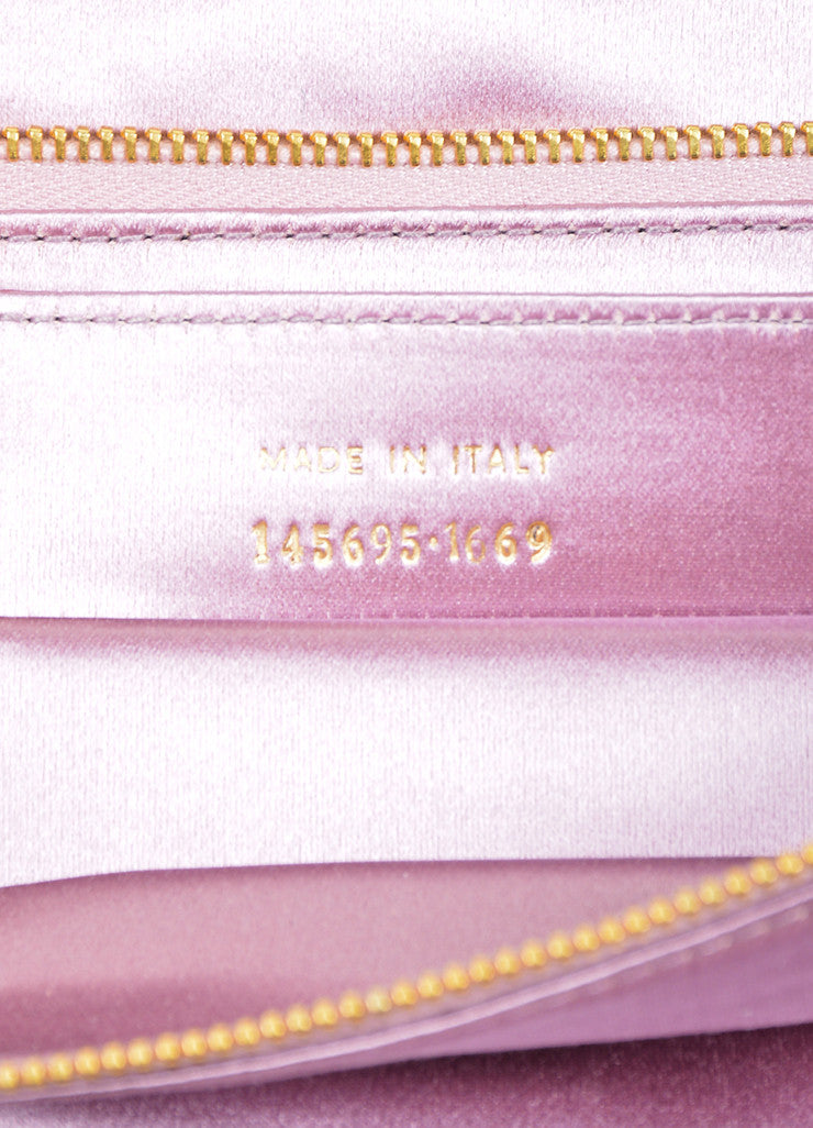 Pink Balenciaga Satin Moto Flap Clutch Bag Serial