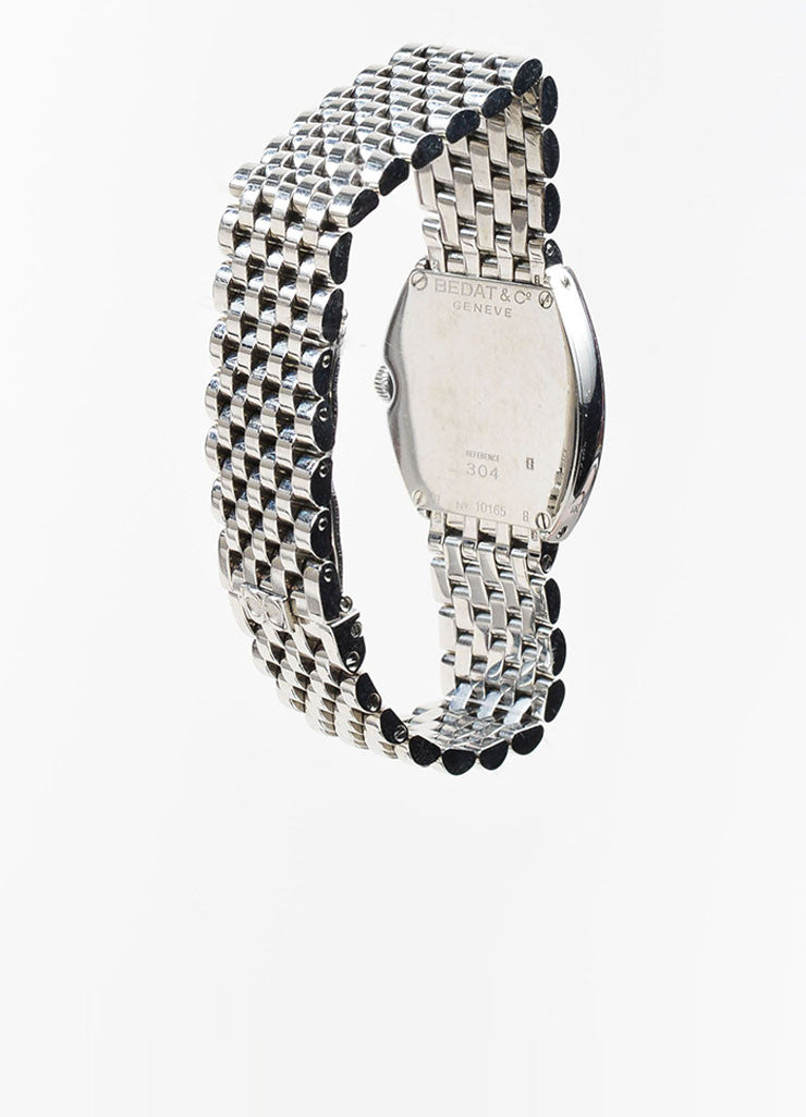 "Bedat & Co Stainless Steel and Diamond ""No. 3"" Bracelet Watch Backview"