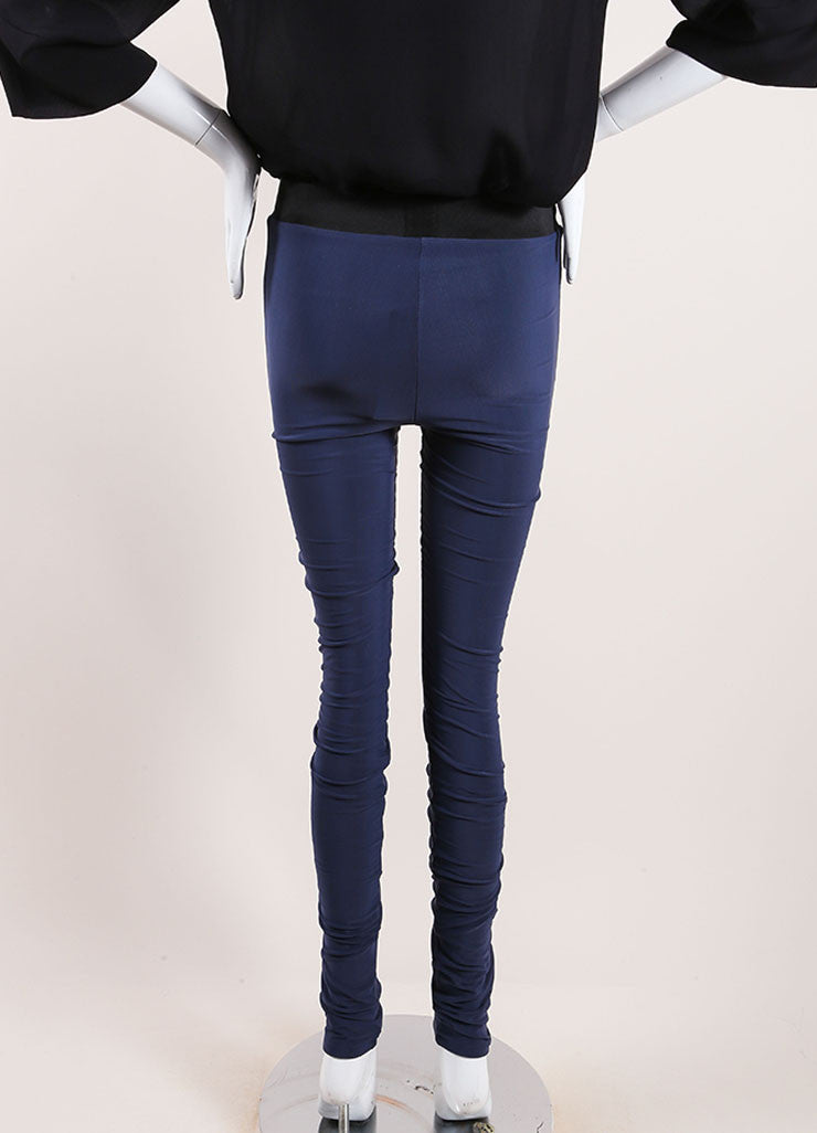 Karolina Zmarlak Navy Blue Leggings Back