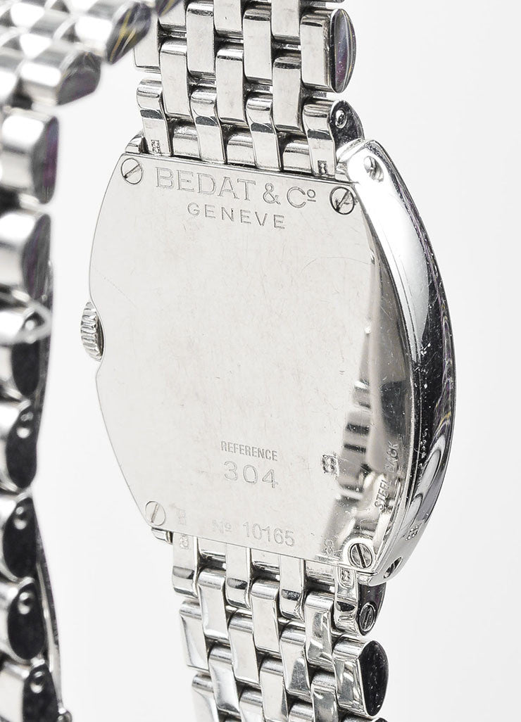 "Bedat & Co Stainless Steel and Diamond ""No. 3"" Bracelet Watch Detail"