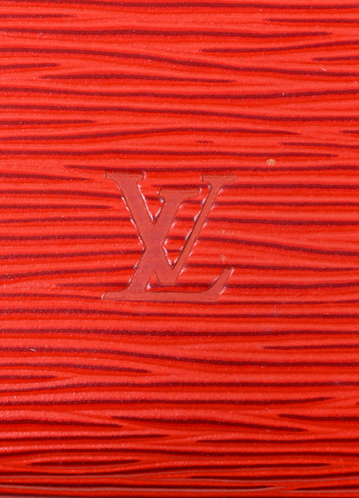 "Red Louis Vuitton Epi Leather ""Pochette"" Small Handbag Brand"