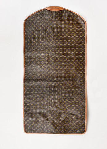 Louis Vuitton The French Luggage Co. Brown Canvas Leather Garment Bag Back