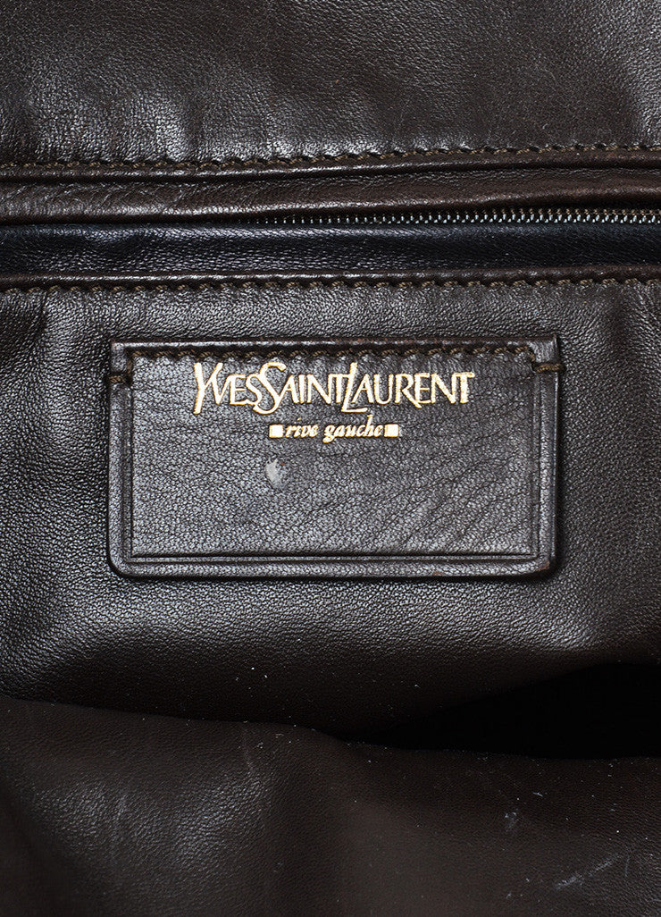 "Green and Gold Toned Yves Saint Laurent Ostrich Limited Edition ""Muse"" Bag Brand"