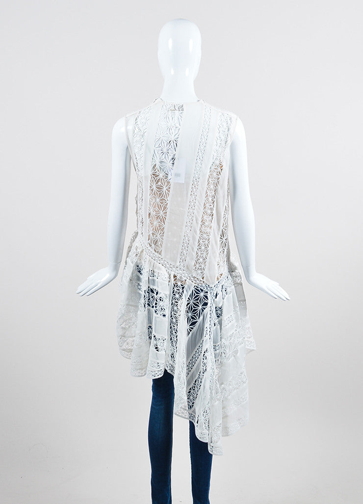 Zimmermann Tarot Celestial White Crochet Polka Dot Two Piece Top Backview