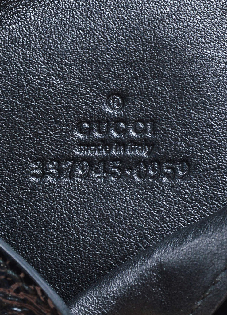 "Gucci ""Soho"" Black Patent Leather Textured Card Case Brand"