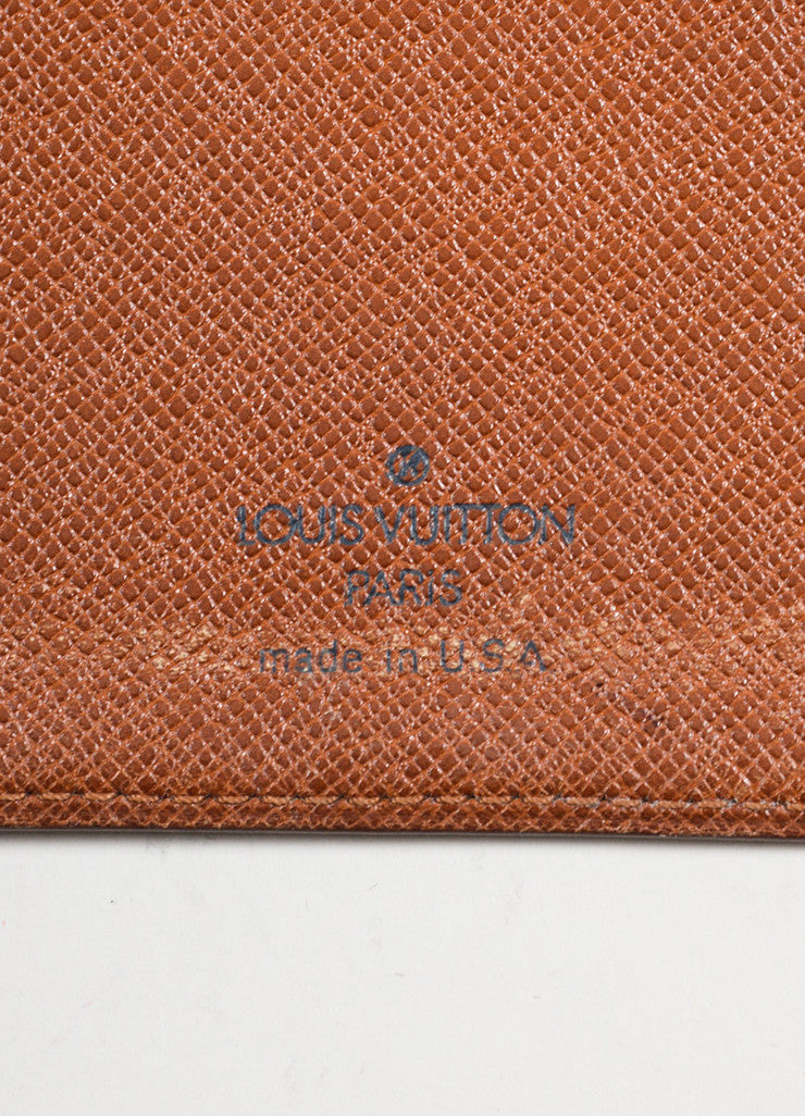 Brown Louis Vuitton Monogram Canvas Checkbook Wallet Brand