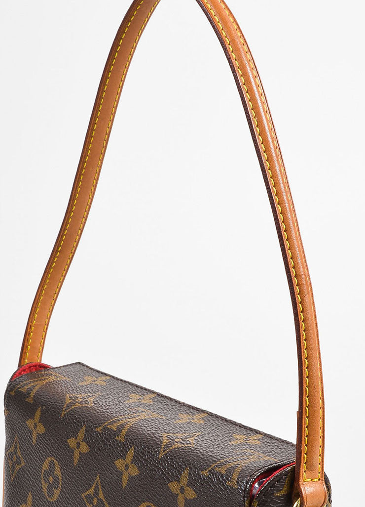 "Louis Vuitton Brown and Tan Coated Canvas Monogram ""Recital"" Shoulder Snap Bag Detail 2"