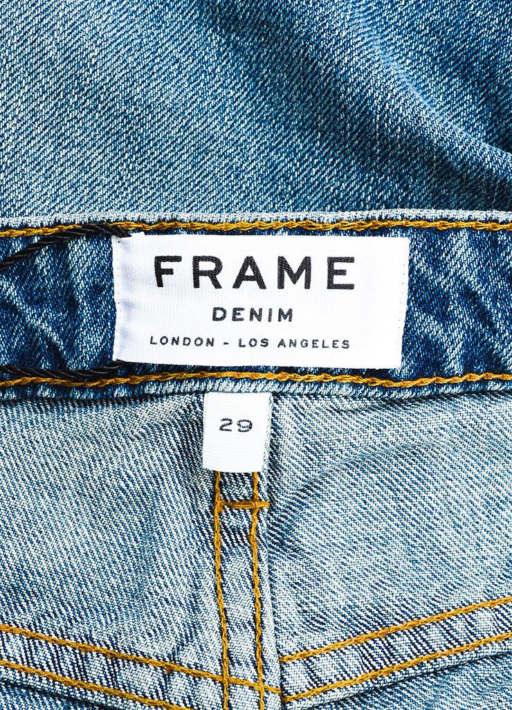 "Frame Denim Blue ""Wellsley"" Faded ""Le Grand Garcon"" Jeans Brand"