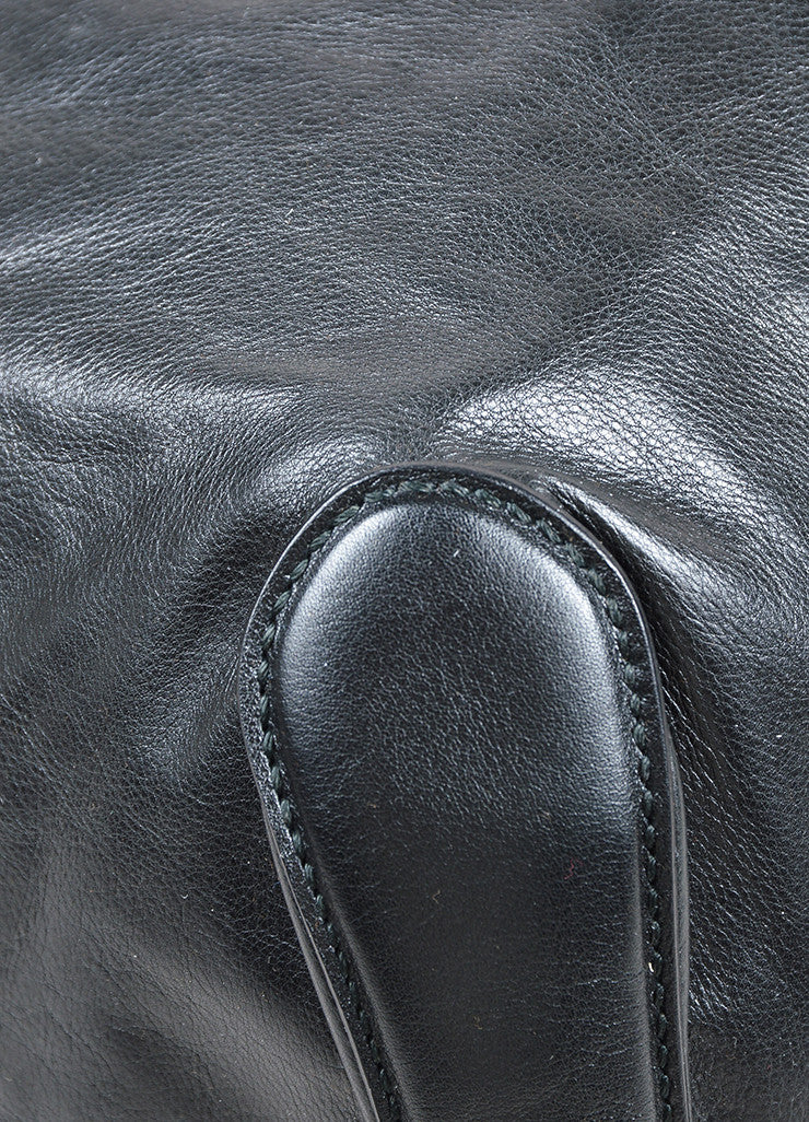 "Black Gucci Leather Top Zip Asymmetrical Slouchy ""Galaxy"" Hobo Shoulder Bag Detail"