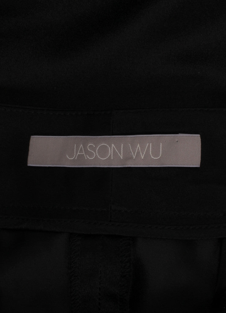 Jason Wu New Black Silk Duchess Satin Stovepipe Dress Pants Brand