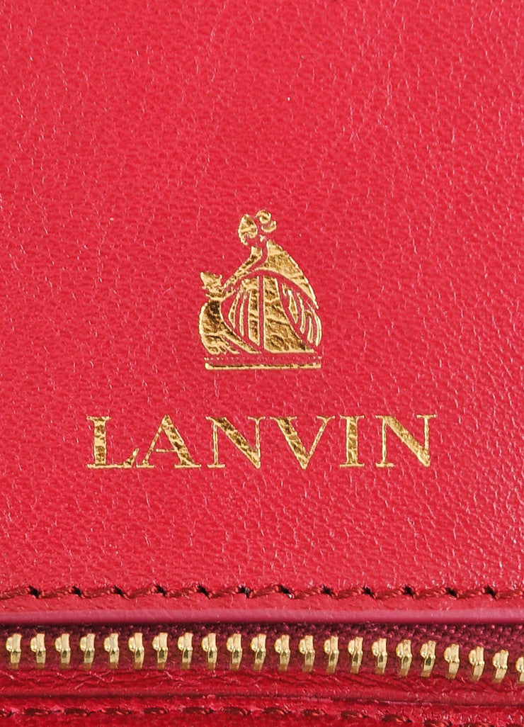 Lanvin Magenta Leather Wristlet Brand