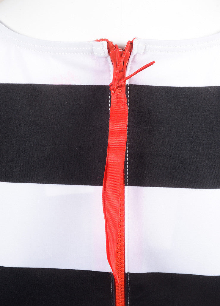 Pret a Surf New With Tags Black, Red, and White Stripe Rashguard Swim Tank Top Detail