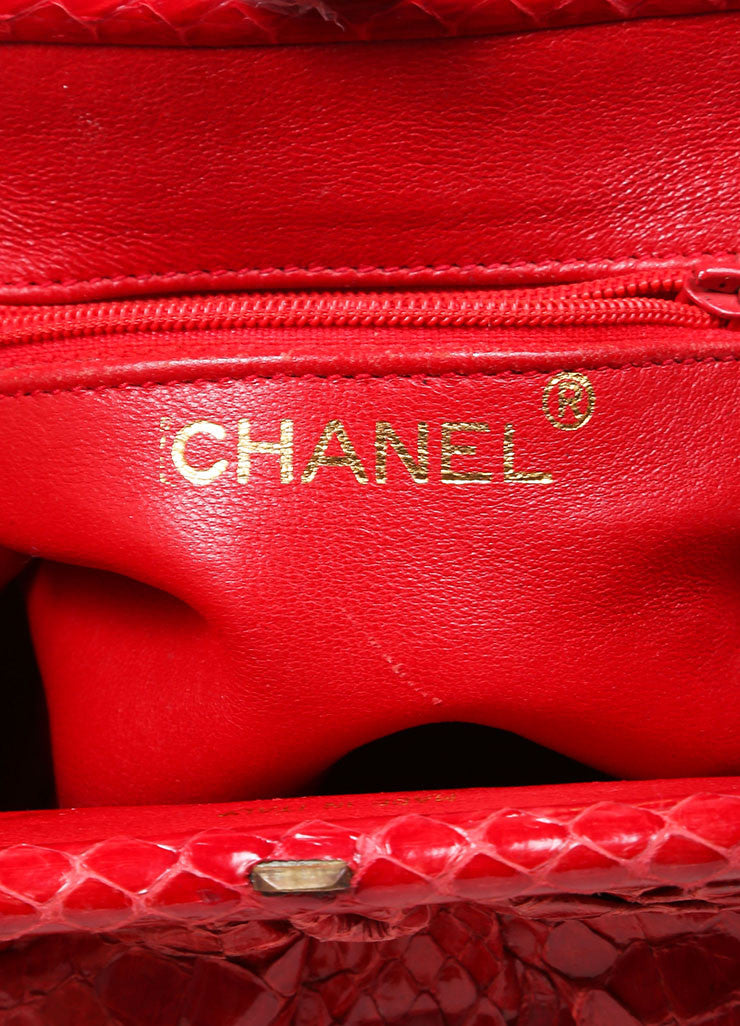 Chanel Red Python Clutch Bag Brand