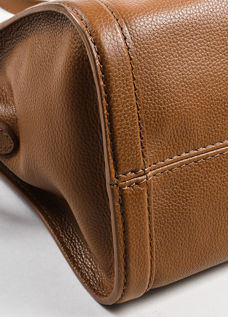 "Alexander McQueen Brown Pebbled Leather ""Small Padlock Satchel"" Bag Detail"