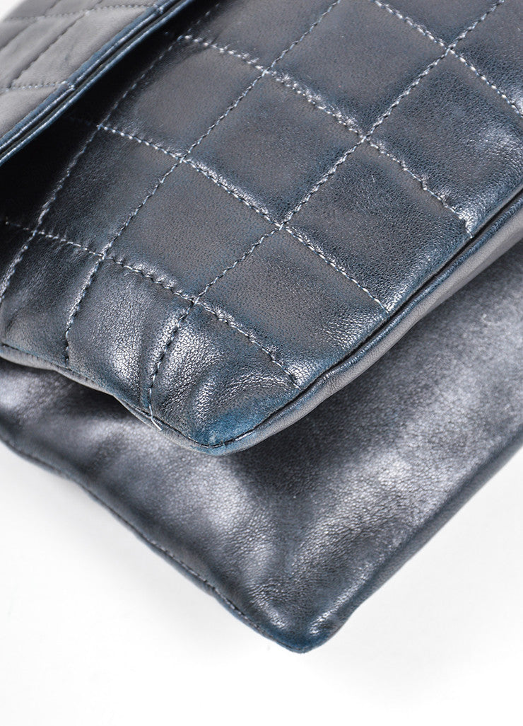 "Chanel Black Quilted Leather ""Chocolate Bar"" Shoulder Bag Detail"