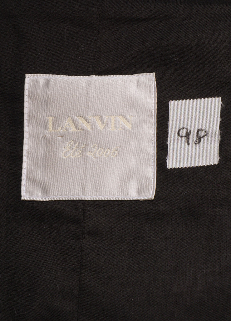 Lanvin Black Cotton Blend Buttoned and Belted Trench Coat Brand