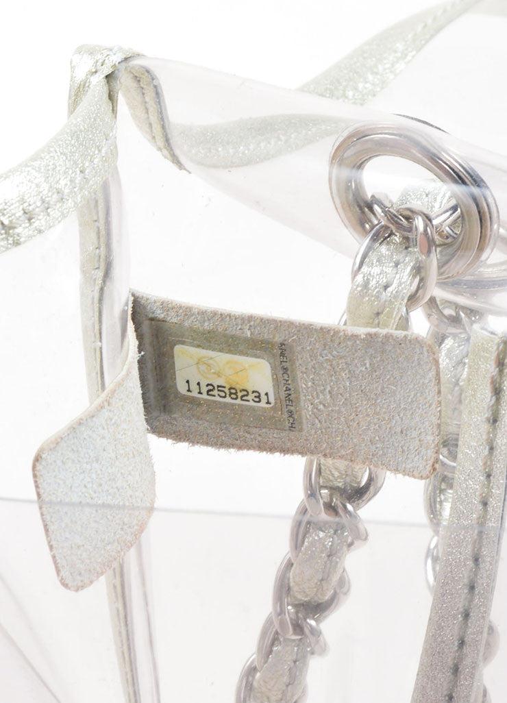 "Chanel Transparent Silver Leather Trim ""Naked"" Classic Flap Bag Hologram"
