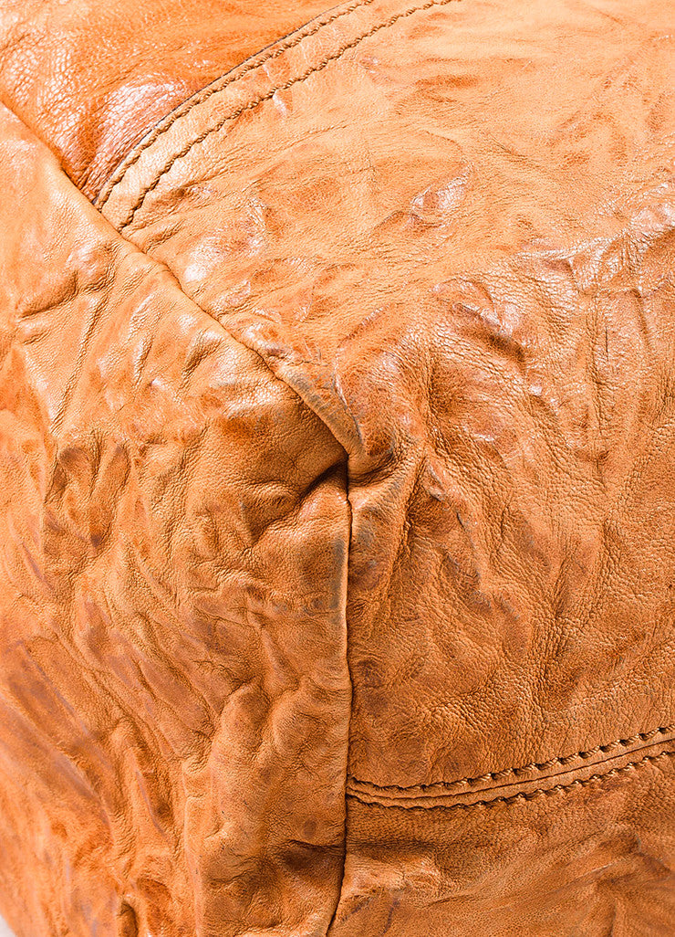 "Givenchy Tan Wrinkled Leather ""Large Pandora"" Shoulder Bag Detail"