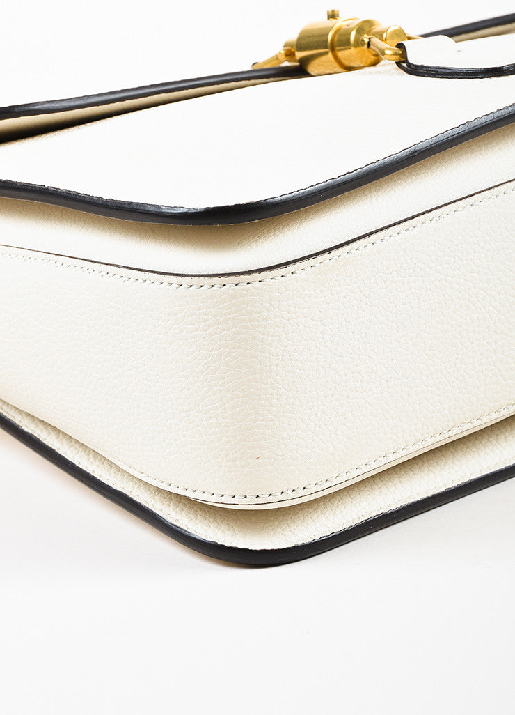 "Gucci Cream Soft Grain Leather ""Jackie"" Removable Strap Shoulder Messenger Bag Detail"