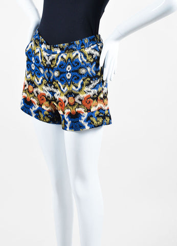 Multicolor Andrew Gn Jacquard Weave Shorts Sideview