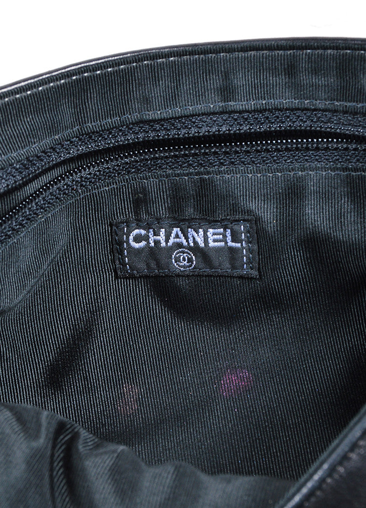 "Chanel Black Quilted Leather ""Chocolate Bar"" Shoulder Bag Brand"