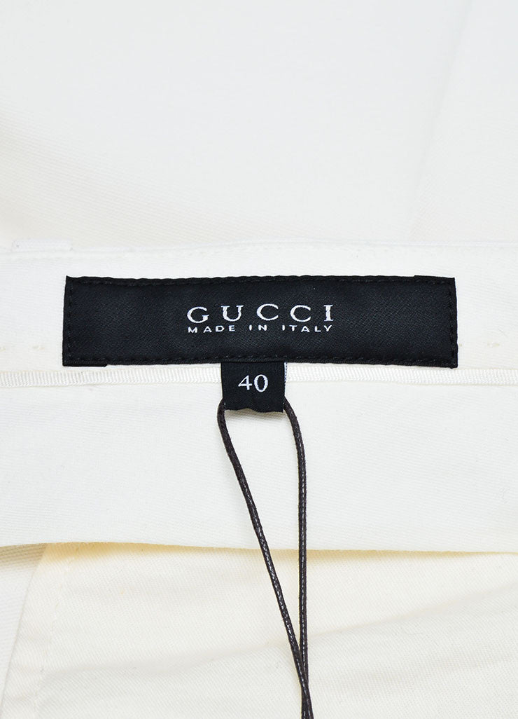 Cream Gucci Cuffed Bermuda Shorts Brand