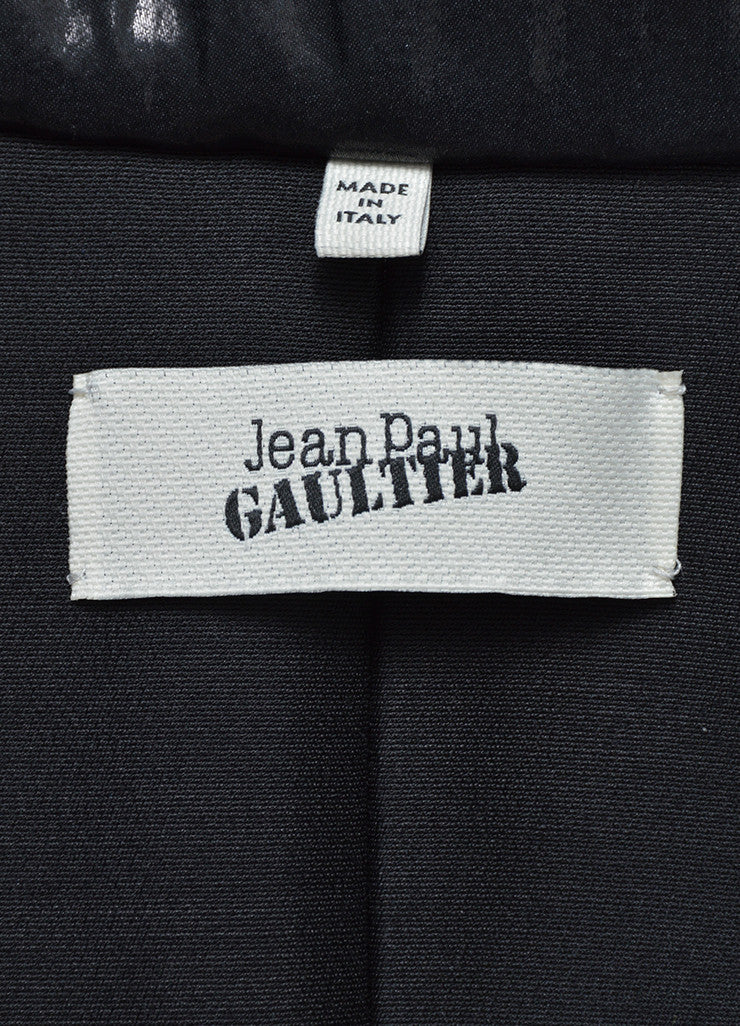 Black, Grey, and Cream Jean Paul Gaultier Metallic Tuxedo Jacket