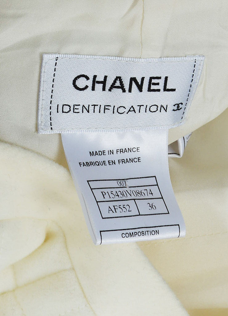 "White Chanel Cotton Blend Quilted A Line ""00T"" Pencil Skirt Brand"