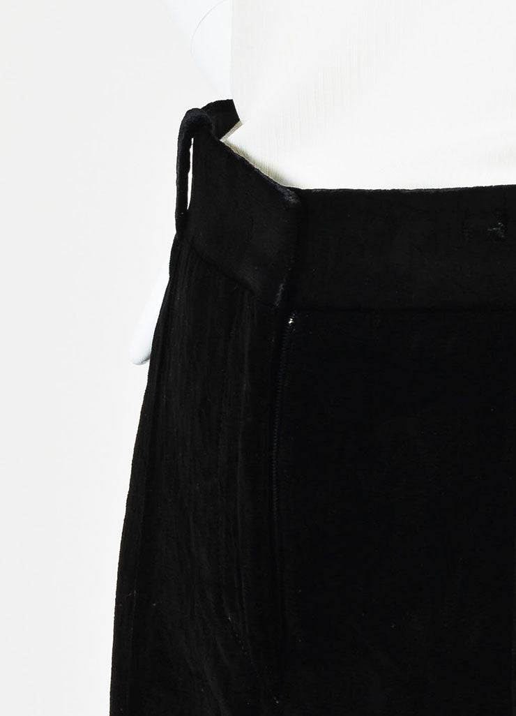 Black Velvet Givenchy High Waist Straight Leg Trousers Detail