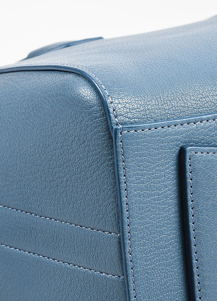 "Givenchy Blue Sugar Goatskin ""Small Antigona"" Satchel Bag Detail 2"