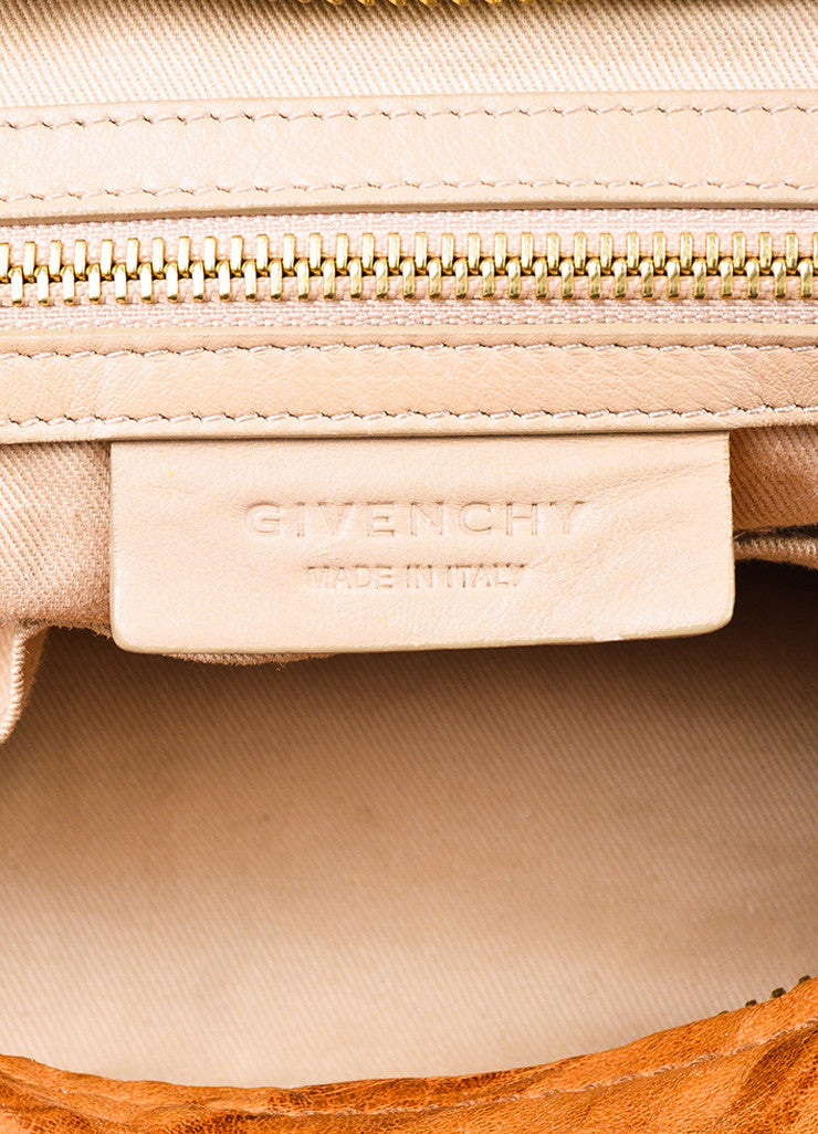 "Givenchy Tan Wrinkled Leather ""Large Pandora"" Shoulder Bag Brand"