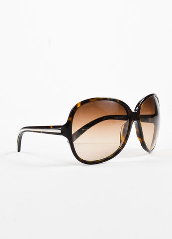 Prada Brown Gradient Tint Tortoise Shell Round Sunglasses Sideview