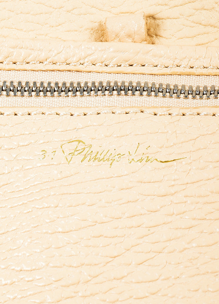 "3.1 Phillip Lim ""Buff"" Beige Grained Leather Medium ""Pashli"" Flap Satchel Bag Brand"