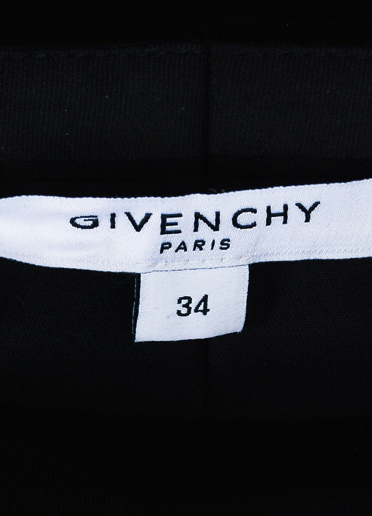 Black Velvet Givenchy High Waist Straight Leg Trousers Brand
