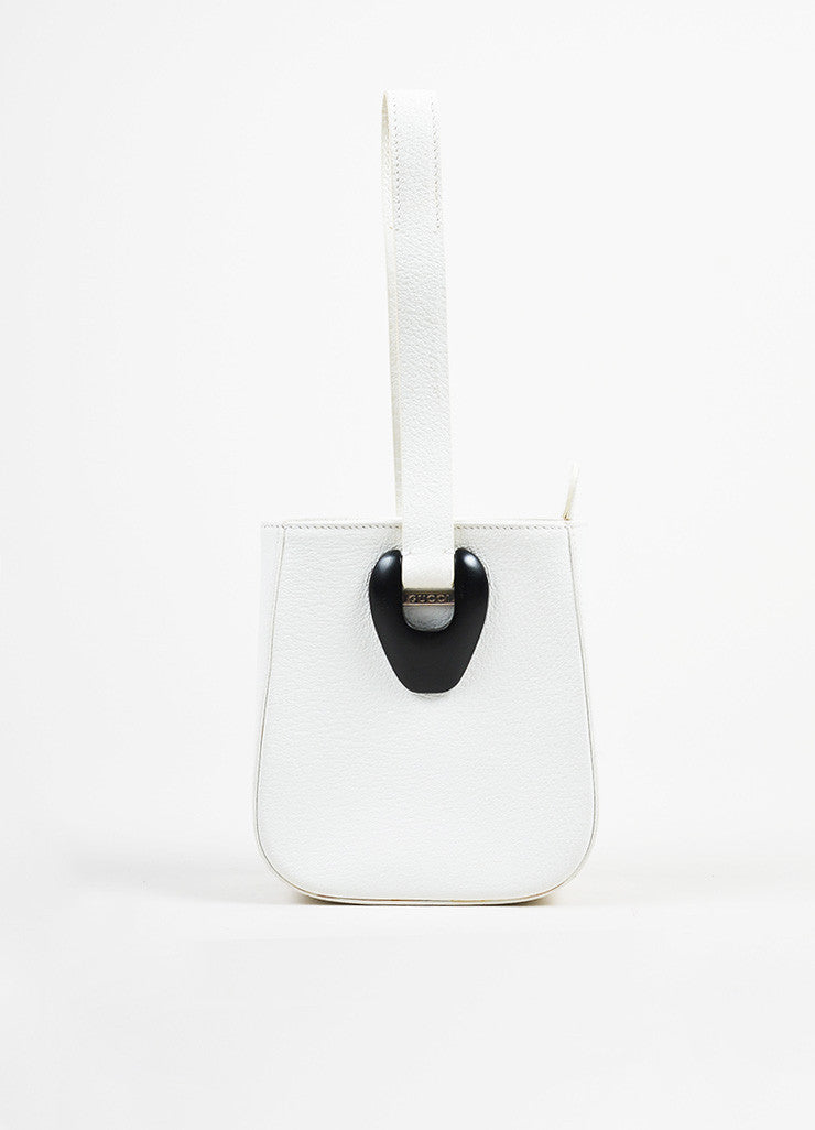 Gucci White Leather Mini Handbag Front