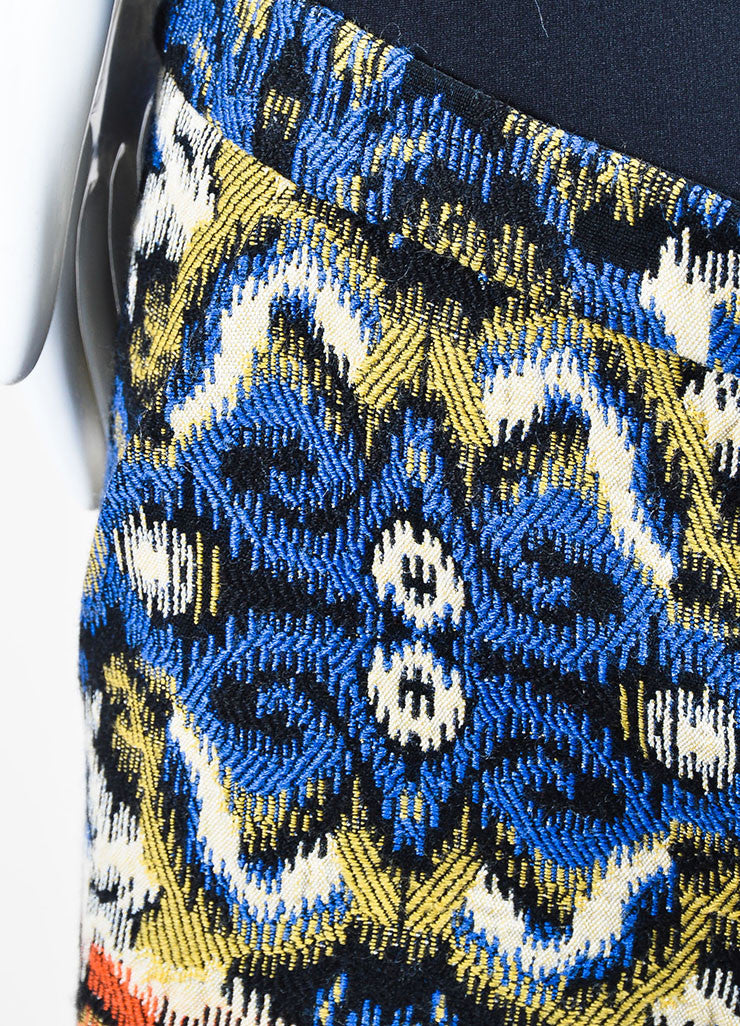 Multicolor Andrew Gn Jacquard Weave Shorts Detail