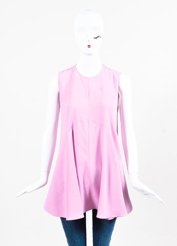 Marni Pink Crepe Sleeveless Flare Top Front