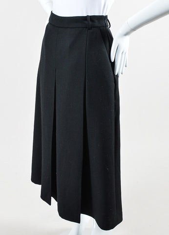 "Vilshenko Black Wool Pleated ""Lucy"" Culottes Side"