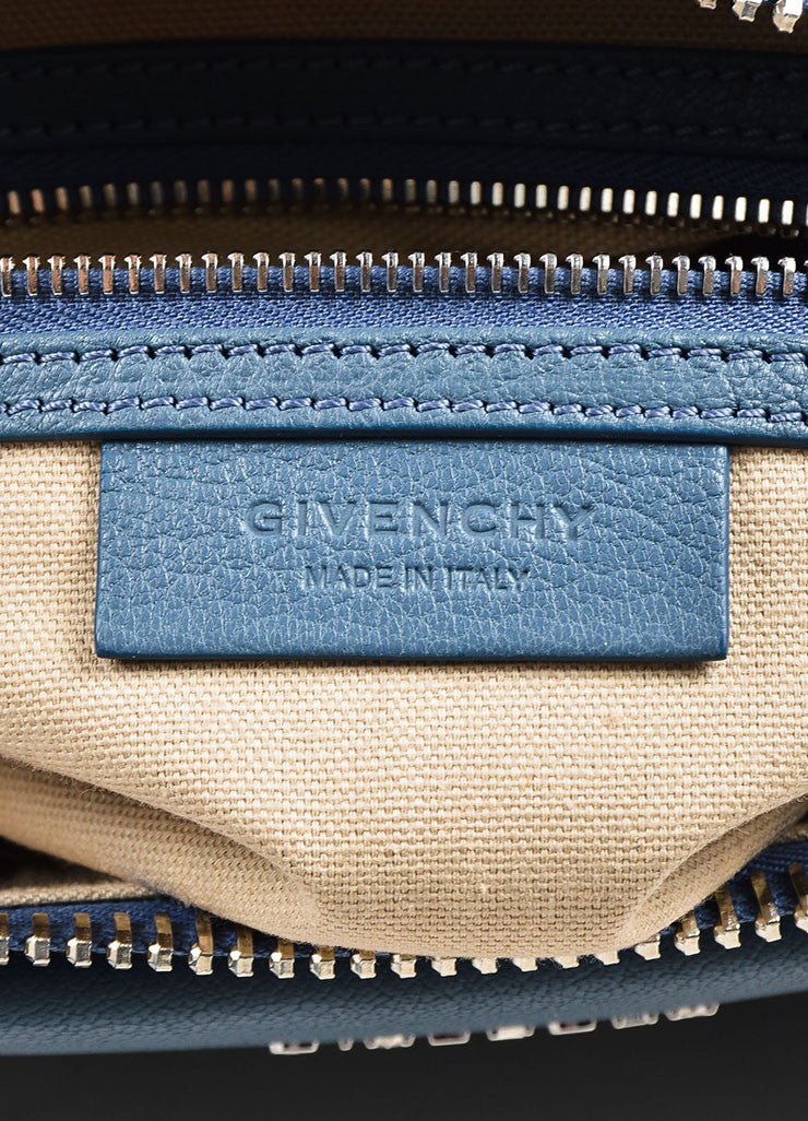 "Givenchy Blue Sugar Goatskin ""Small Antigona"" Satchel Bag Brand"