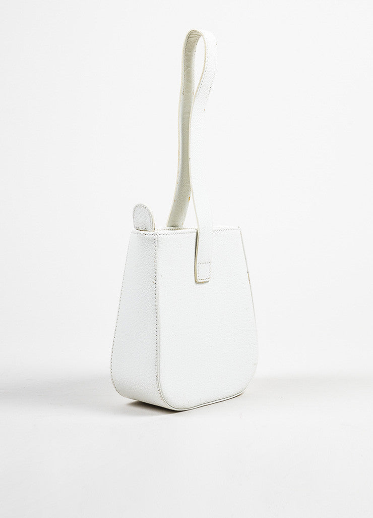 Gucci White Leather Mini Handbag Back