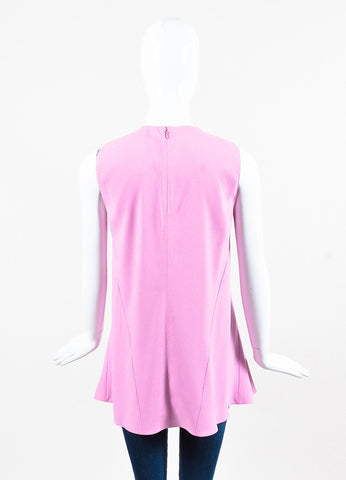 Marni Pink Crepe Sleeveless Flare Top Back