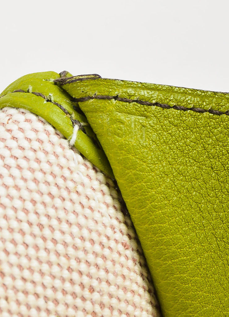 "Hermes Vert Anis Green Togo Leather ""Jige PM"" Flap Clutch Bag Stamp"