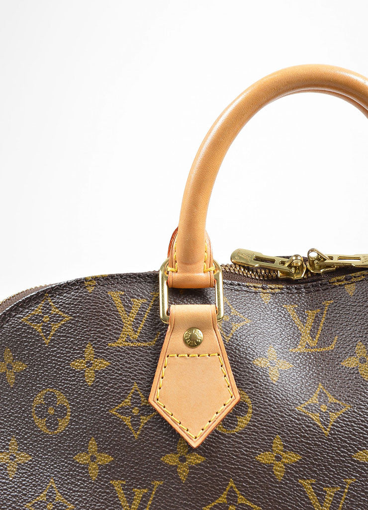 "Brown Louis Vuitton Monogram Canvas ""Alma PM"" Handbag Detail 2"