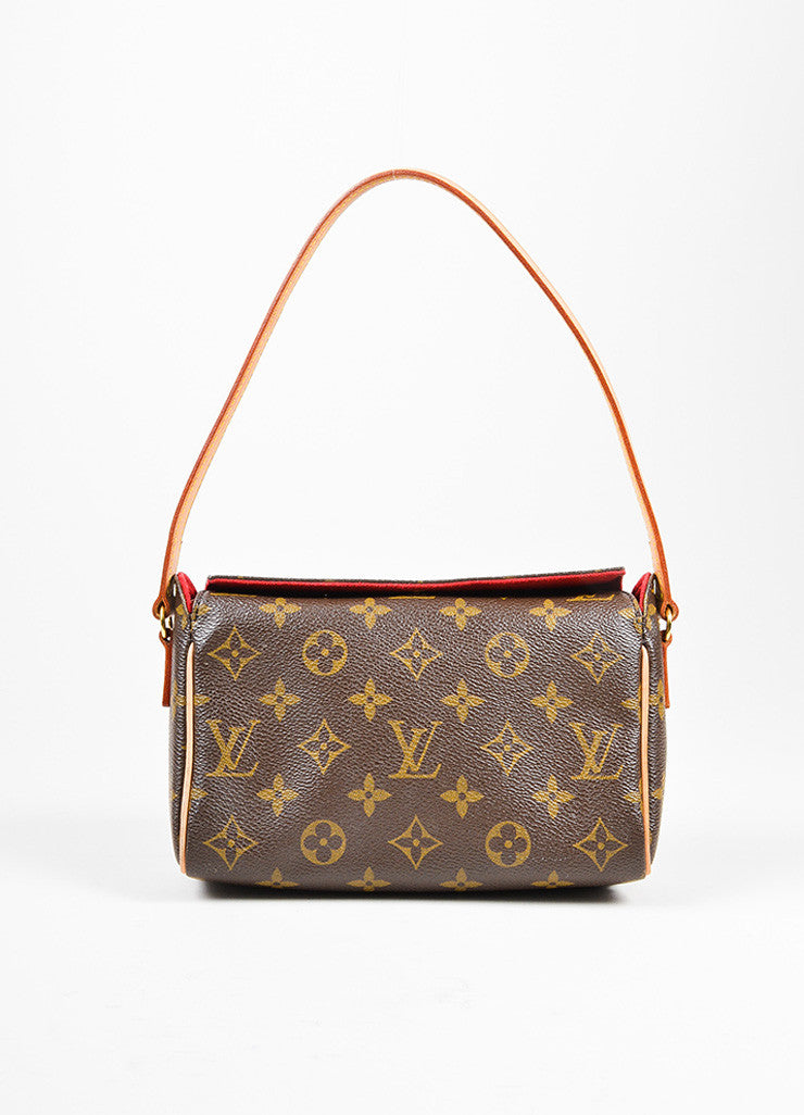 "Brown Louis Vuitton Monogram Canvas ""Recital"" Shoulder Bag Frontview"