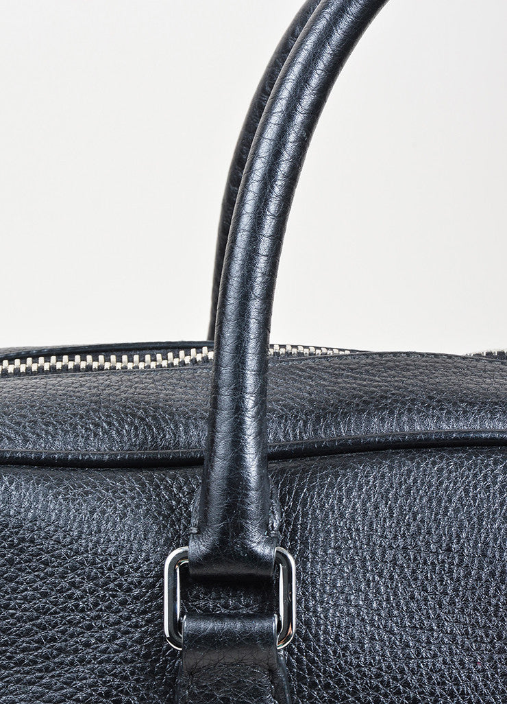 Prada Black Leather Briefcase Detail 2