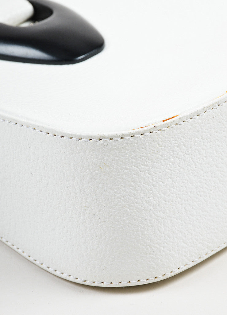 Gucci White Leather Mini Handbag Detail 2