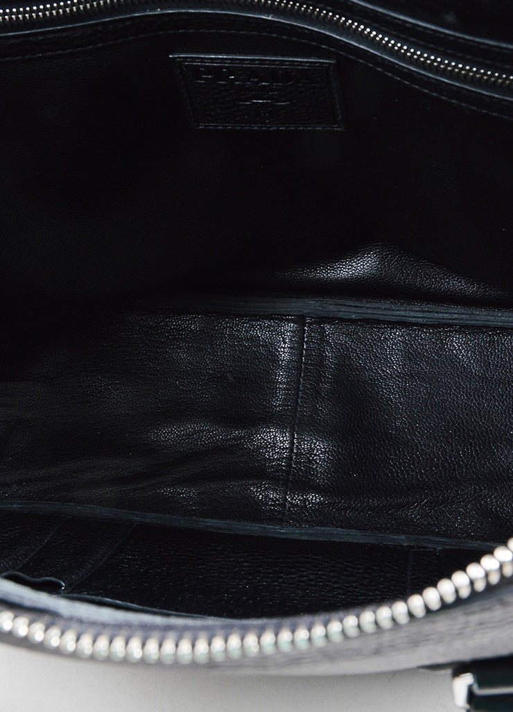 Prada Black Leather Briefcase Interior