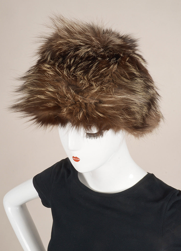 Nat Kaplau Couture Grey Silver Fox Fur Hat Frontview
