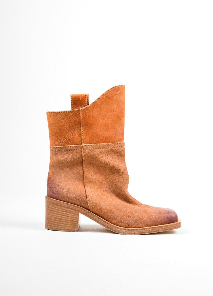 Light Brown Chanel Suede Leather Paris-Dallas Short Boots Sideview
